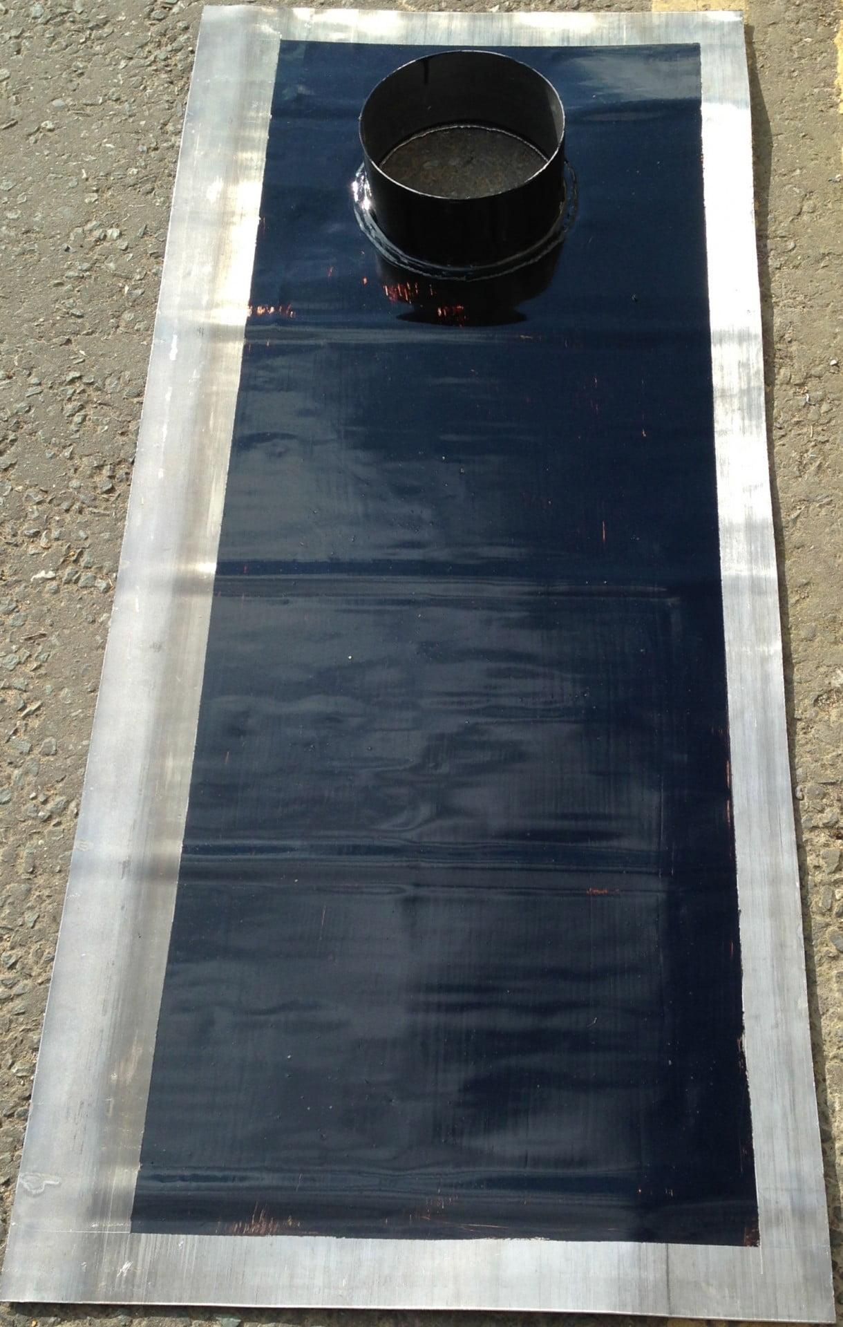 Chimney DPC Tray from sheet lead