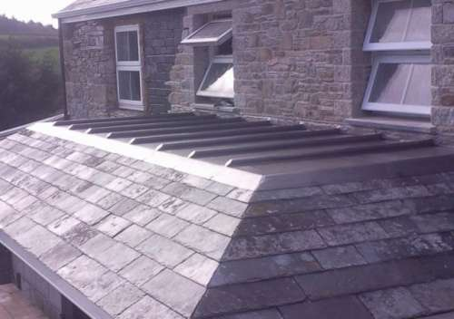 Sheet Lead Roof To A New Extension To Building Just Lead