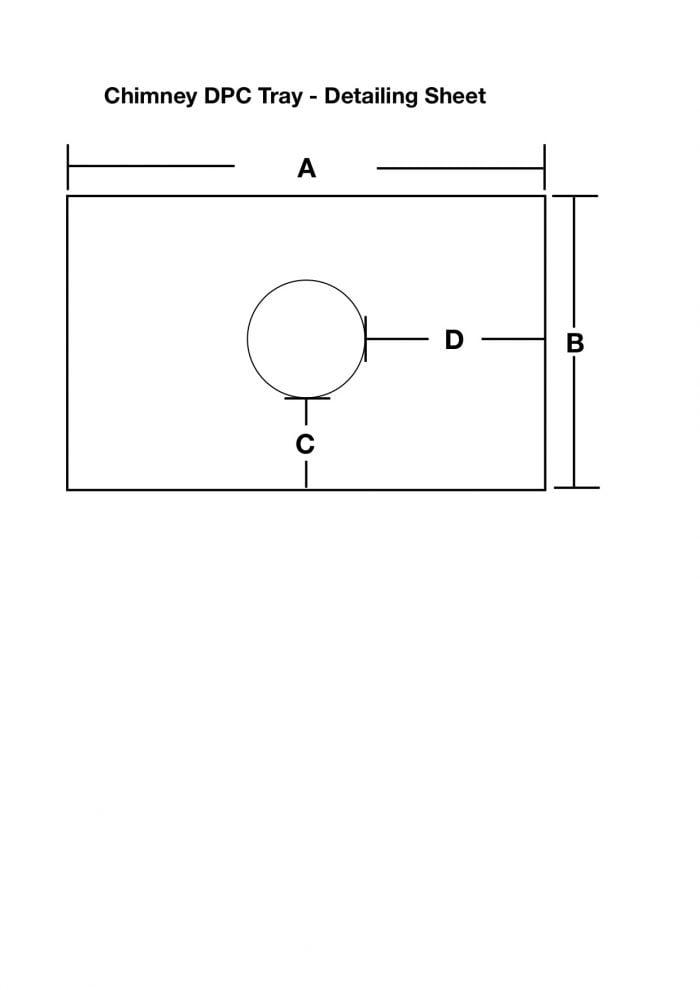 Chimney DPC Tray - Detailing Sheet